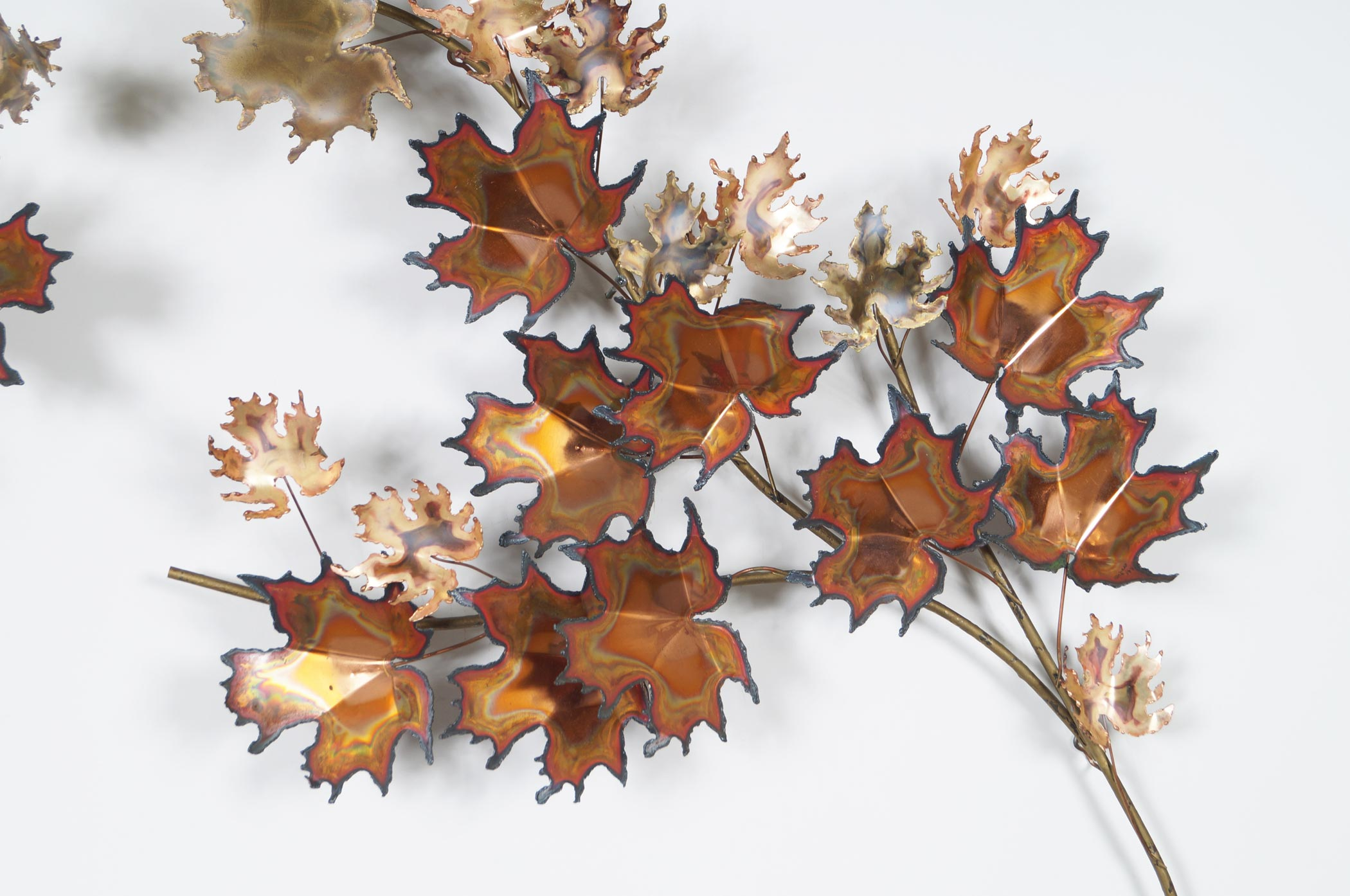Vintage Maple Leaf Wall Sculpture by Curtis Jere