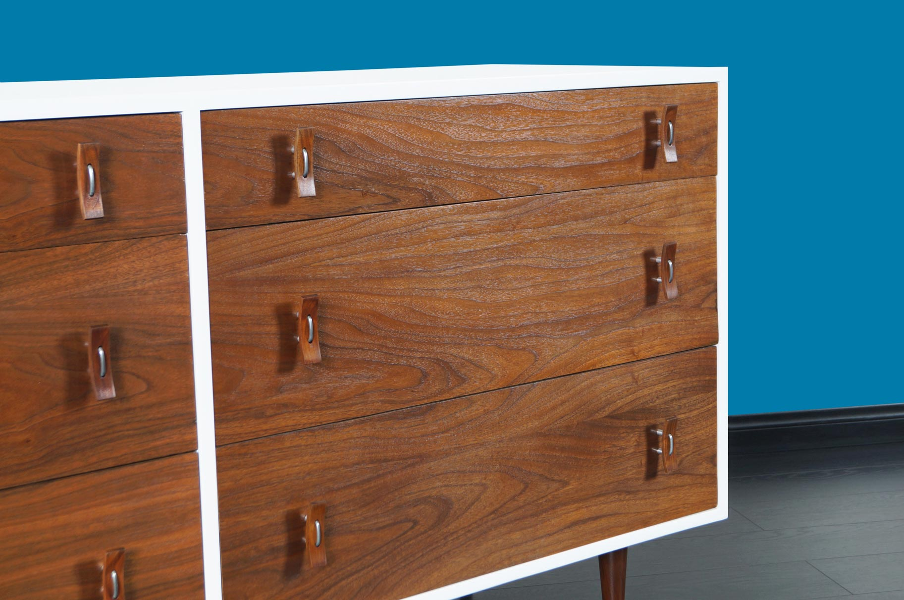 Vintage Walnut and Lacquered Dresser by Stanley Young