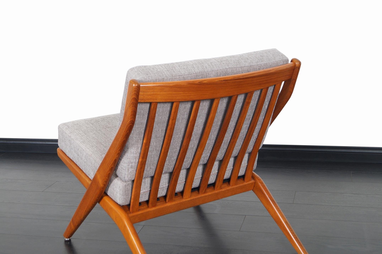 Vintage Teak Scissor Lounge Chairs by Folke Ohlsson for Dux