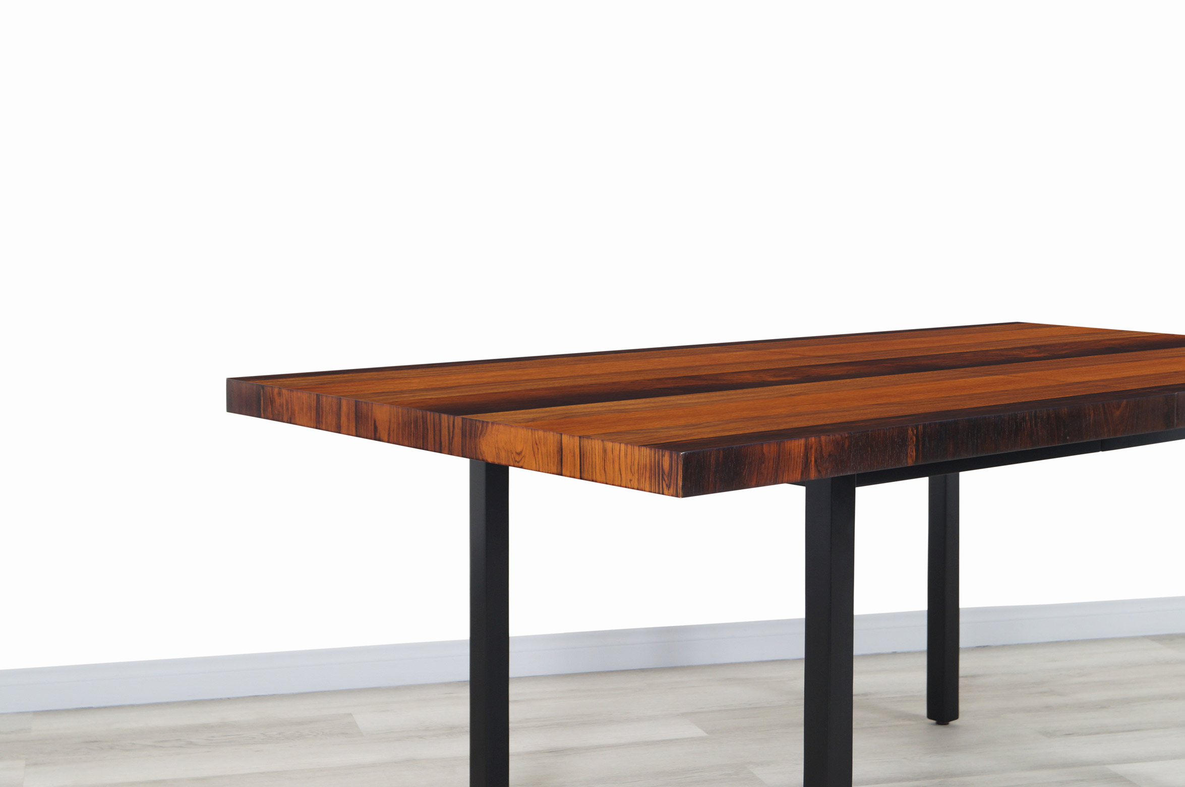 Vintage Multi-Wood Expanding Dining Table by Milo Baughman for Directional