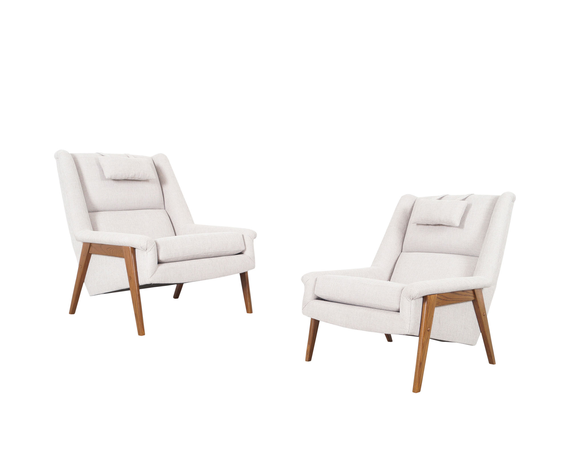 Vintage Walnut Lounge Chairs Attributed to Folke Ohlsson