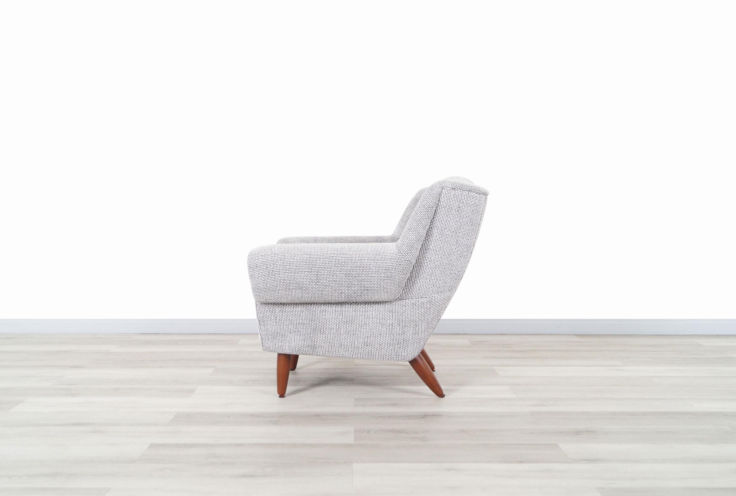 Mid-Century Modern Walnut Lounge Chairs