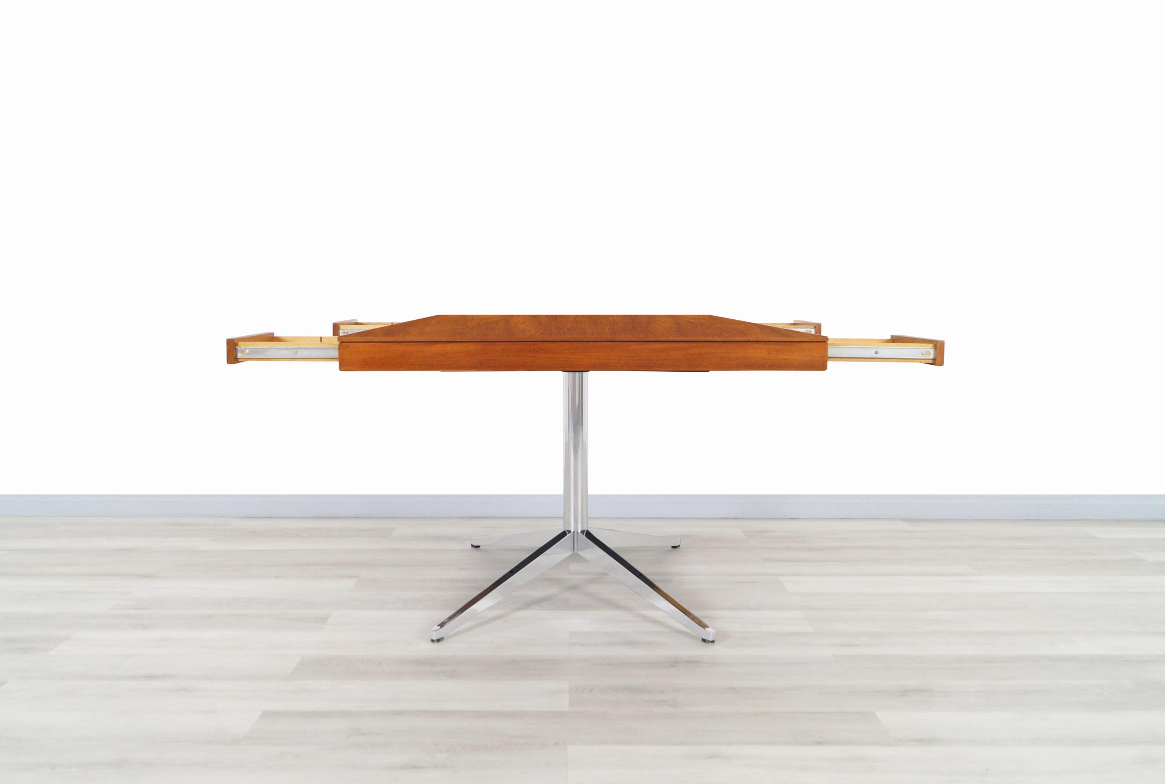 Vintage Walnut Executive Desk by Florence Knoll