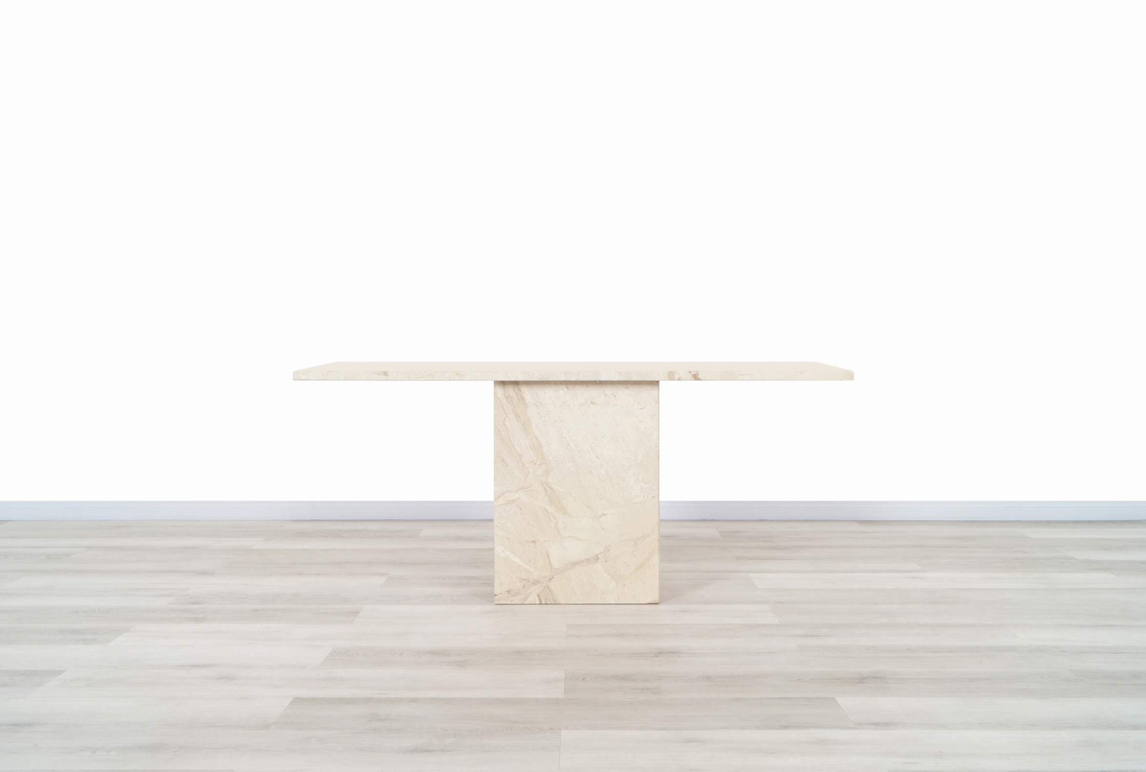 Italian Modernist Marble Console Table
