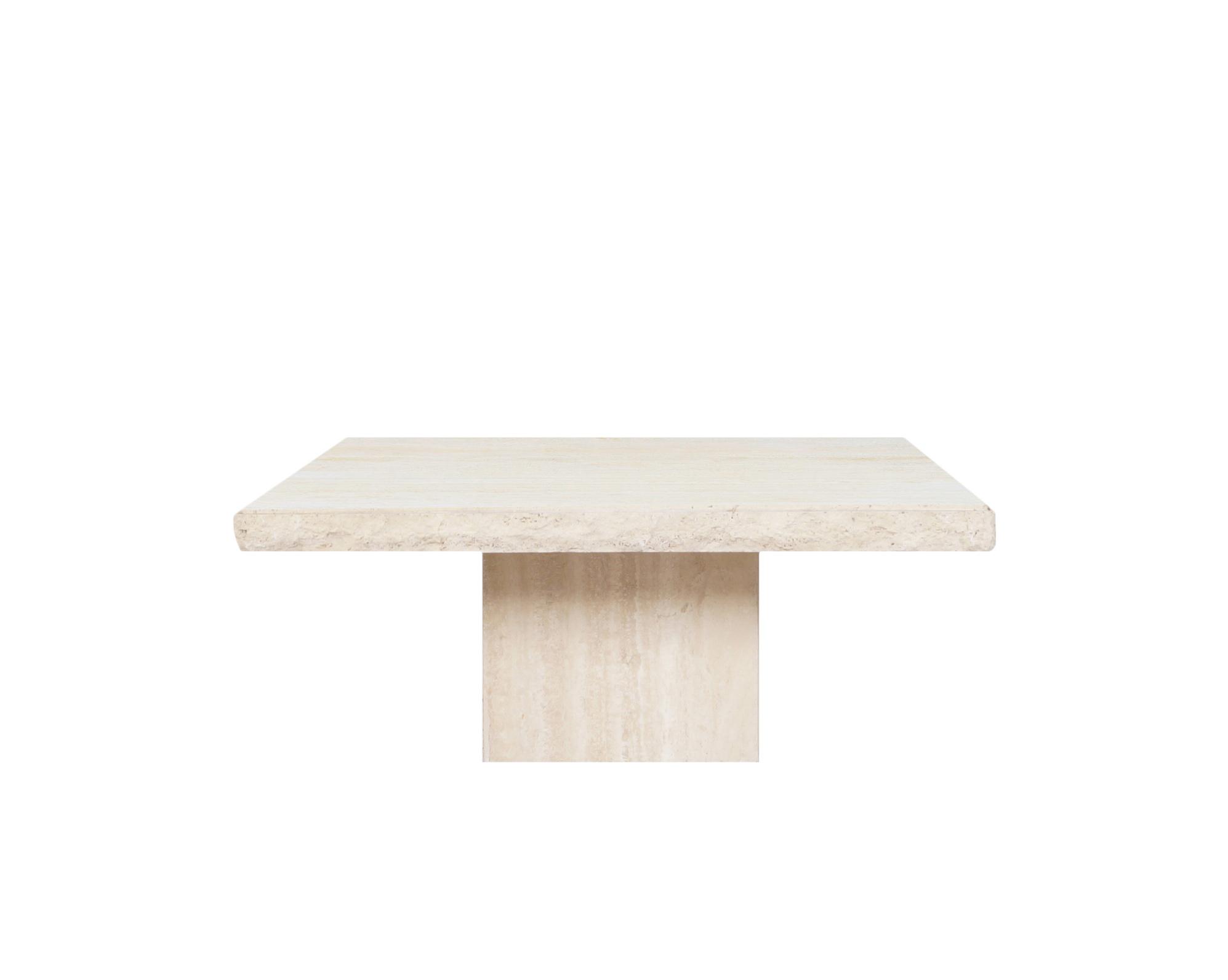 Italian Modernist Live Edge Travertine Coffee Table