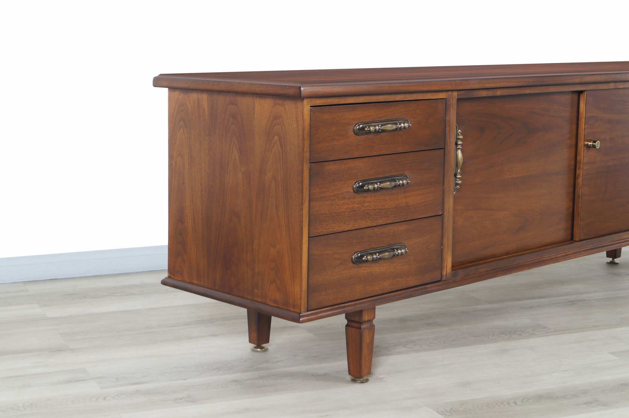 Vintage Walnut Credenza by Maurice Bailey for Monteverdi Young