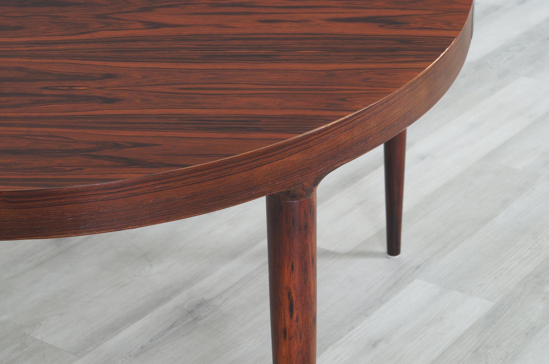 Danish Modern Expanding Rosewood Dining Table by Moreddi