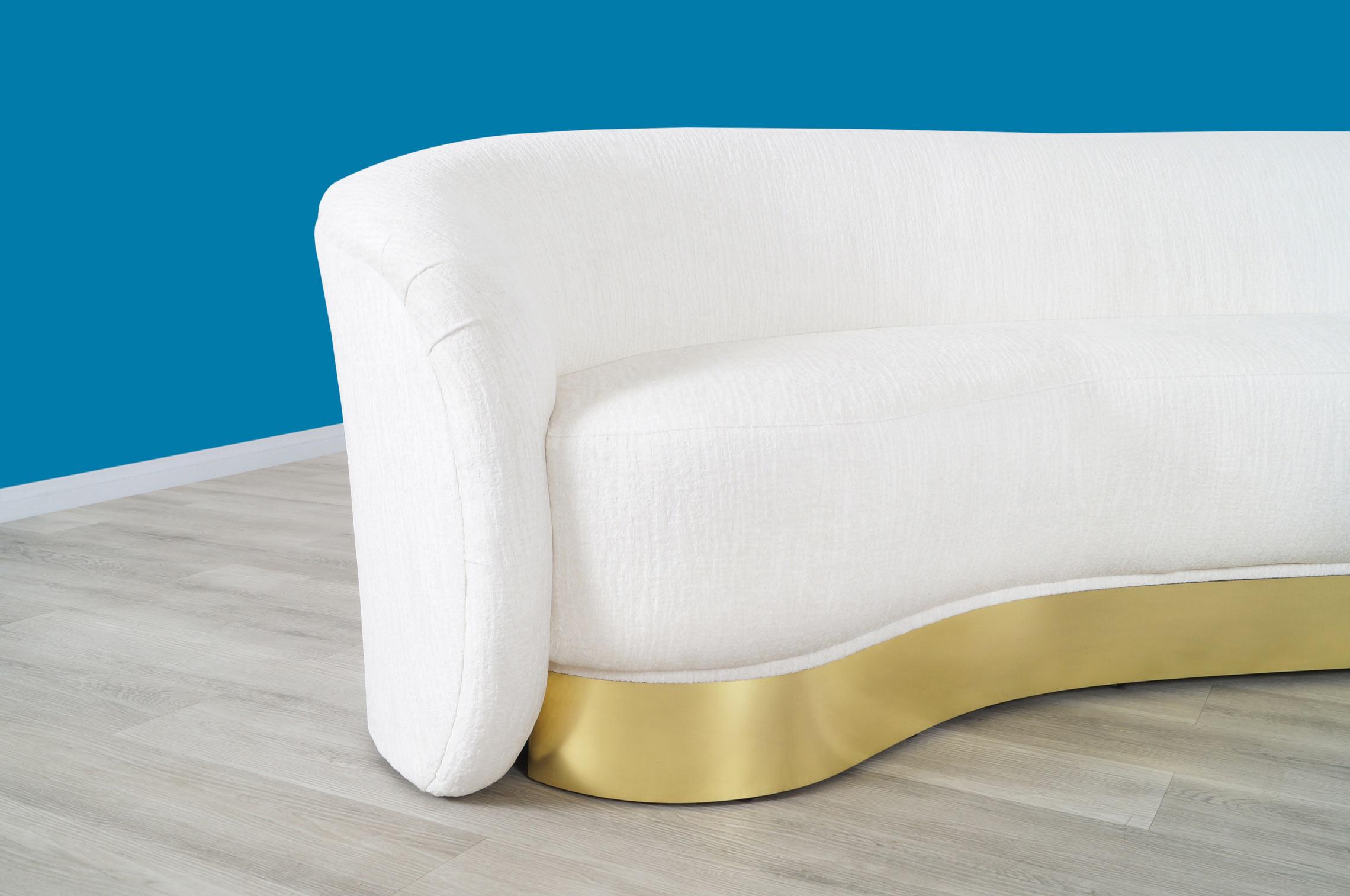 Vintage Brass Freeform Sofa by Vladimir Kagan
