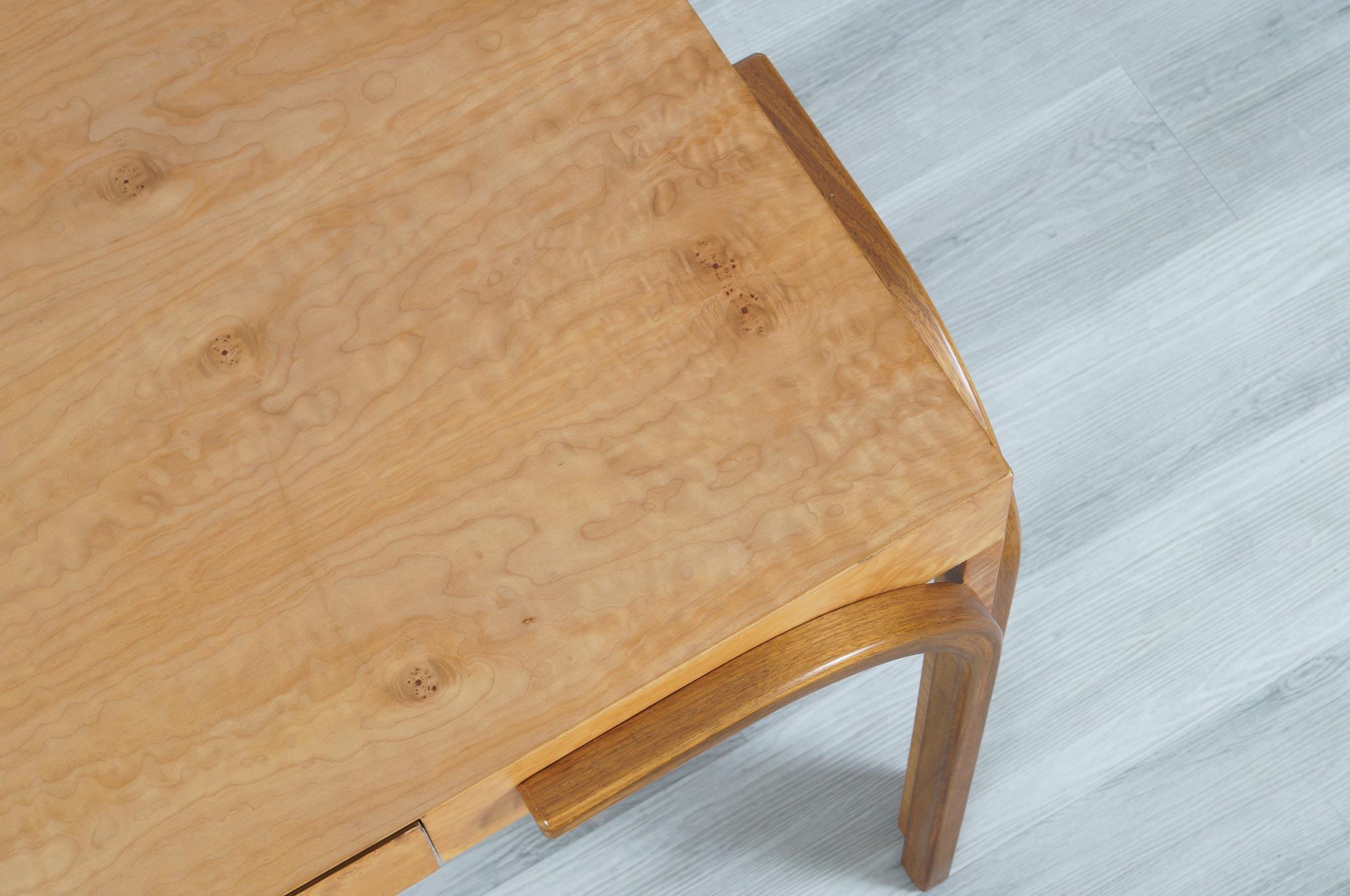 Vintage Burl Wood Desk or Vanity