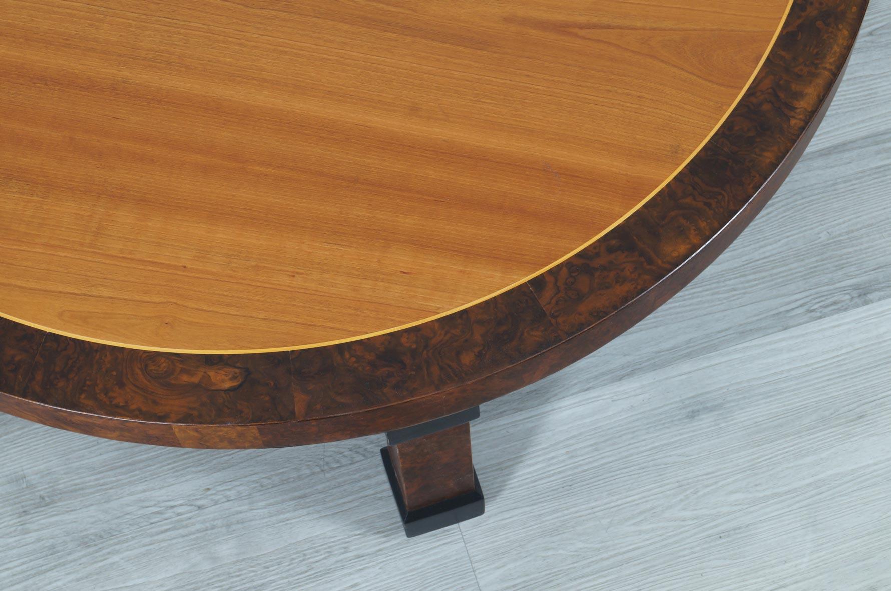 Vintage Burl Wood Coffee Table by Baker