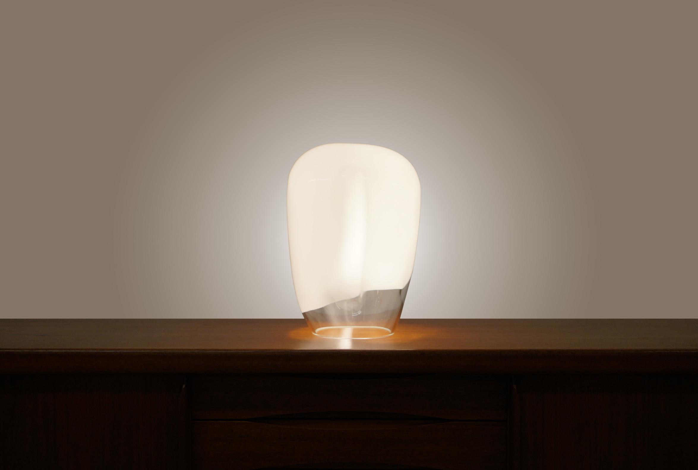 Vintage Murano Glass Freeform Lamp by Luciano Vistosi