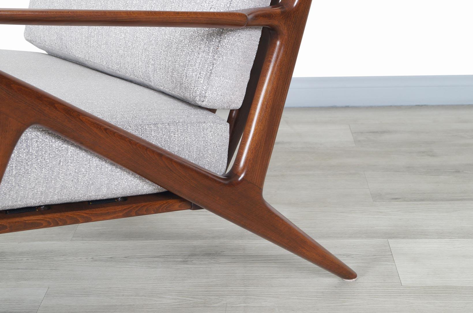 Danish Modern Z Lounge Chairs by Poul Jensen for Selig