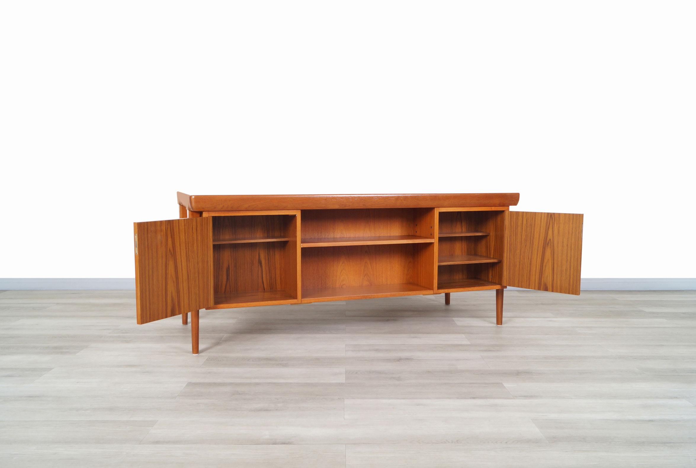 Danish Modern Executive Desk by Ib Kofod Larsen