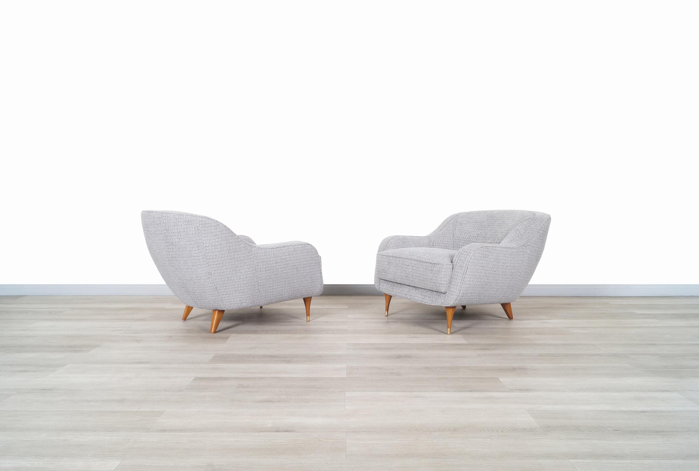 Vintage Italian Barrel Lounge Chairs