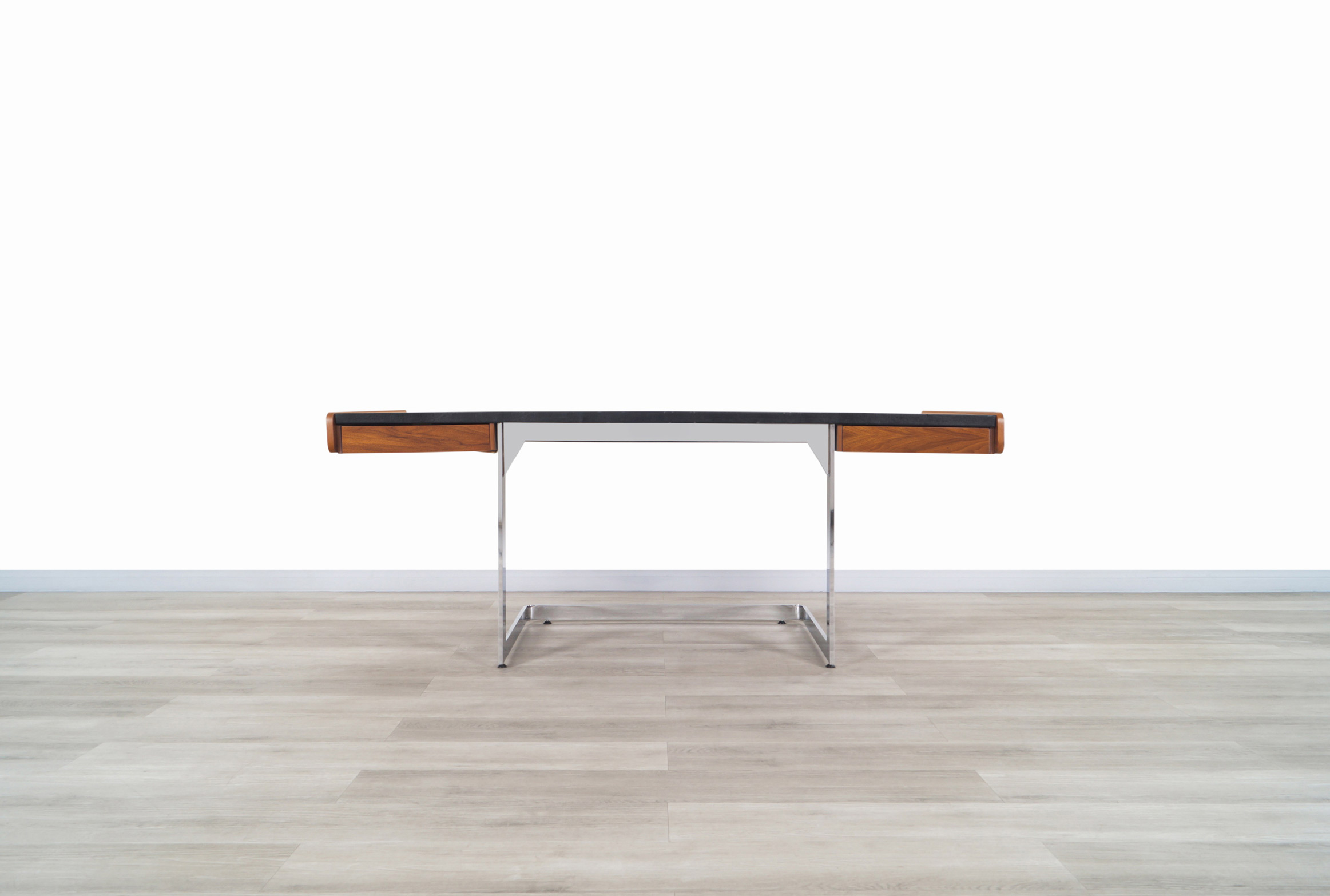 Vintage Chrome Cantilevered Desk by Ste. Marie and Laurent