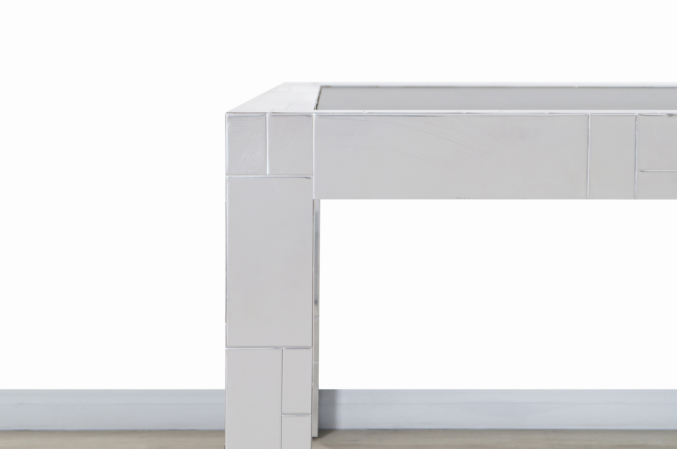 Vintage Chrome Cityscape Dining Table by Paul Evans for Directional