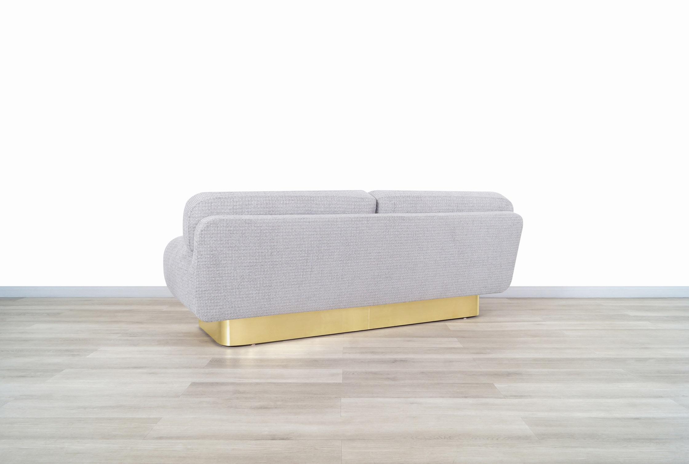 Mid Century Modern Brass Sofa