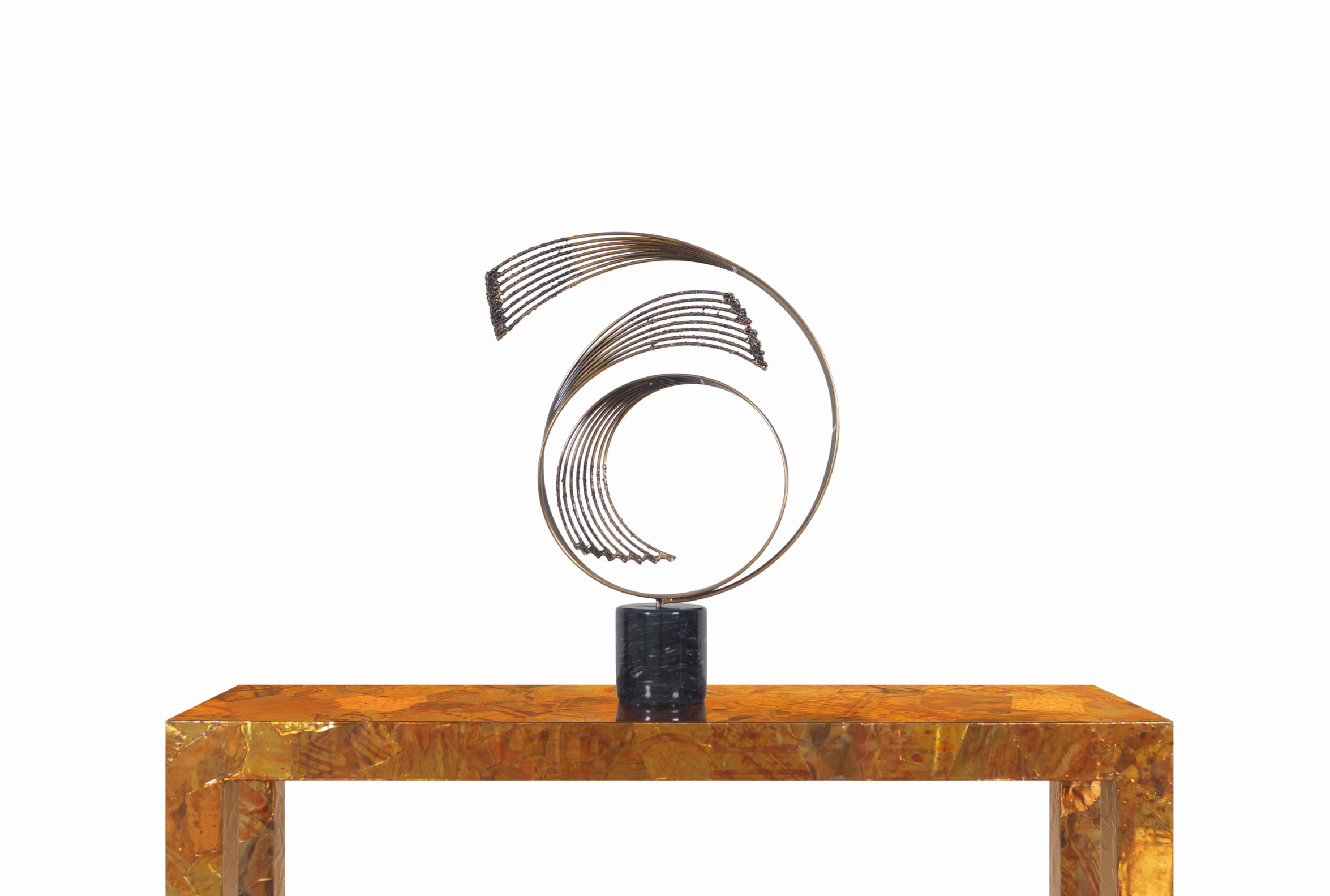 Vintage Brass Windswept Sculpture by Curtis Jere