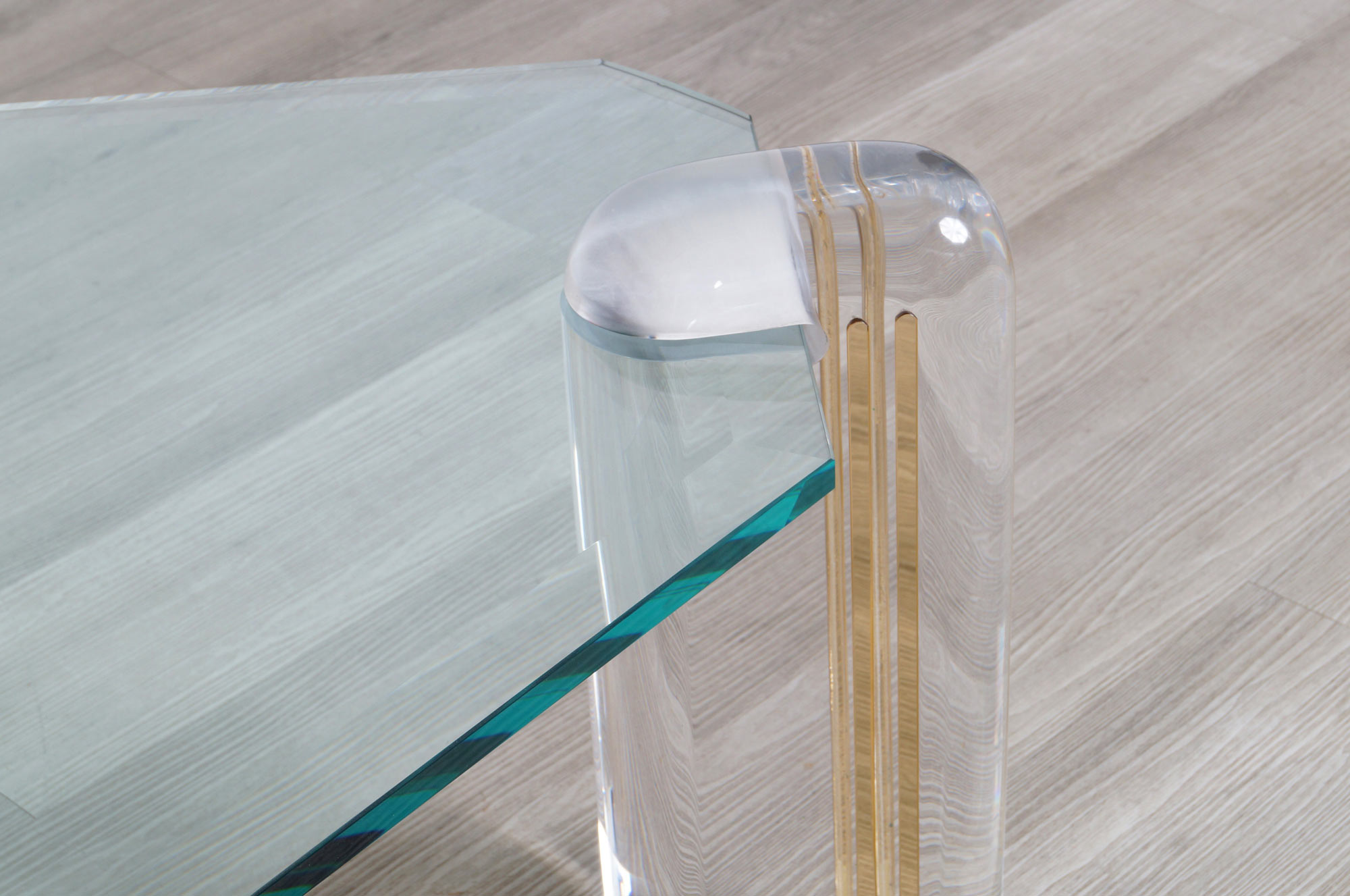 Exceptional Vintage Lucite and Glass Coffee Table by Karl Springer