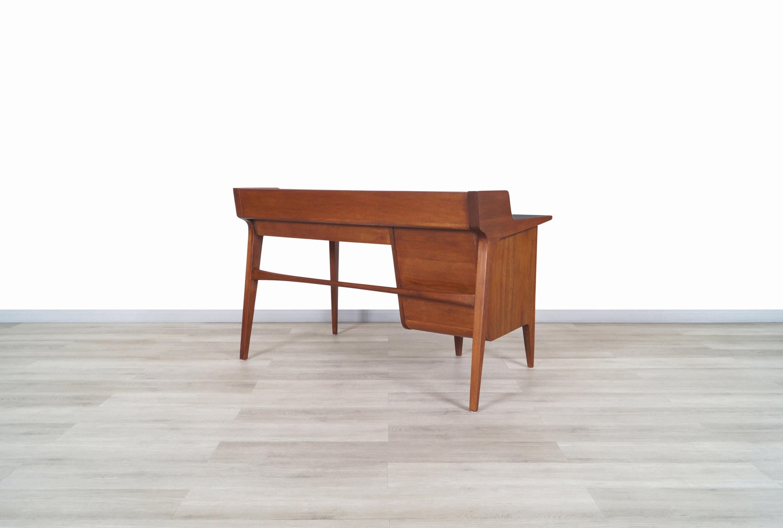 Vintage Walnut Model-K80 Executive Desk by John Van Koert