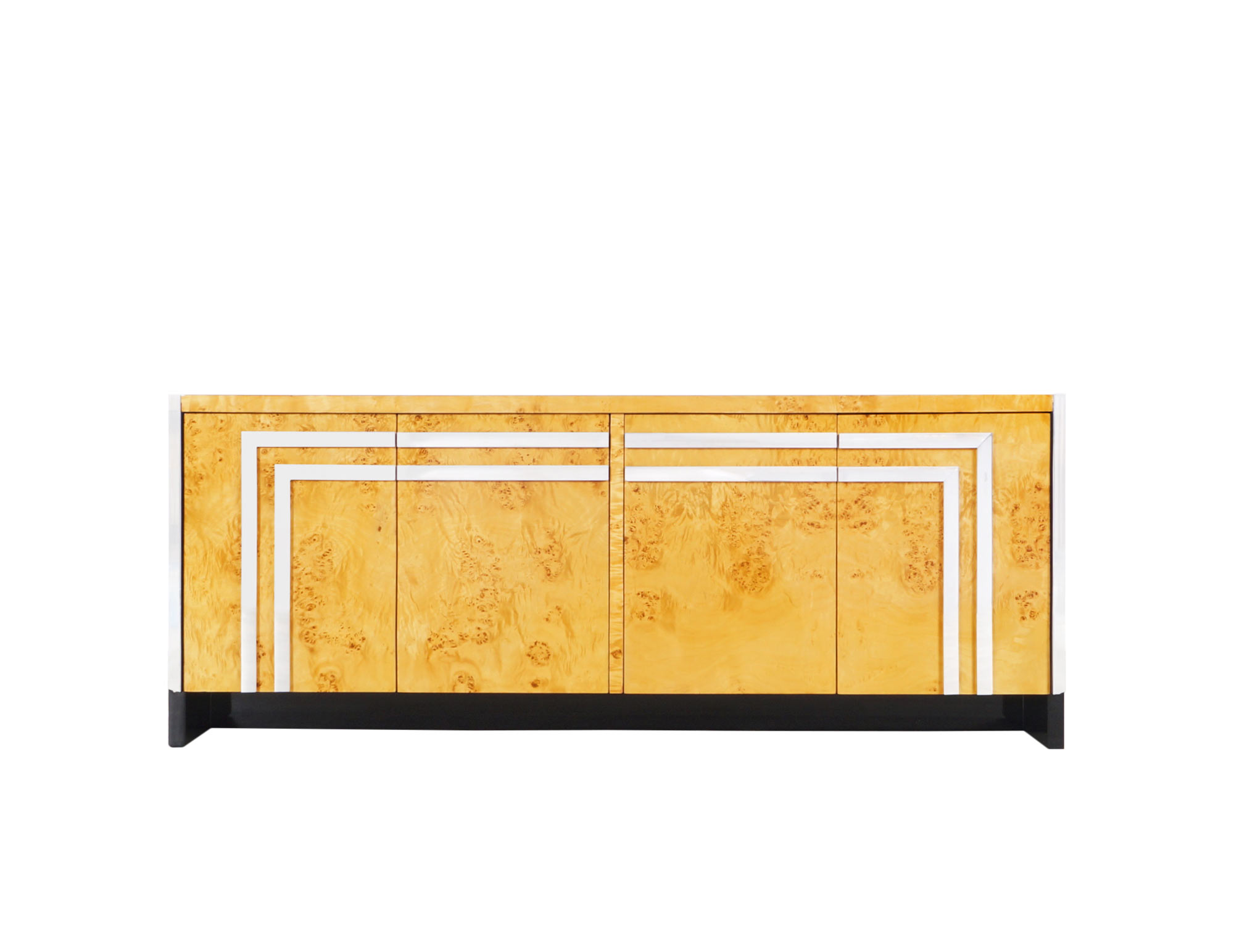 Vintage Art Deco Burl Wood Credenza by Leon Rosen by Pace
