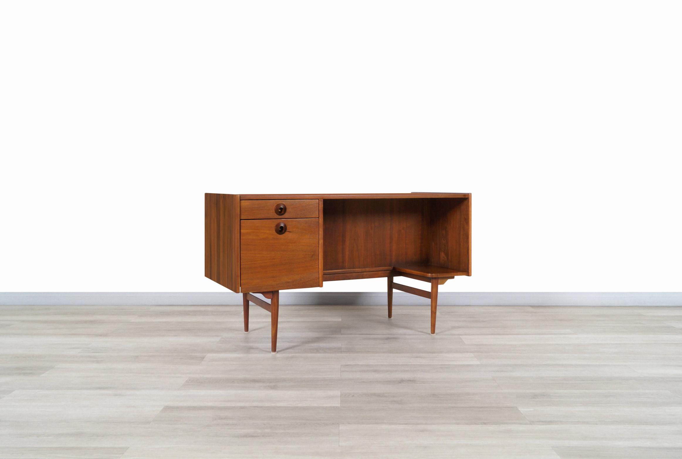 Vintage Walnut Desk by John Caldwell for Brown Saltman
