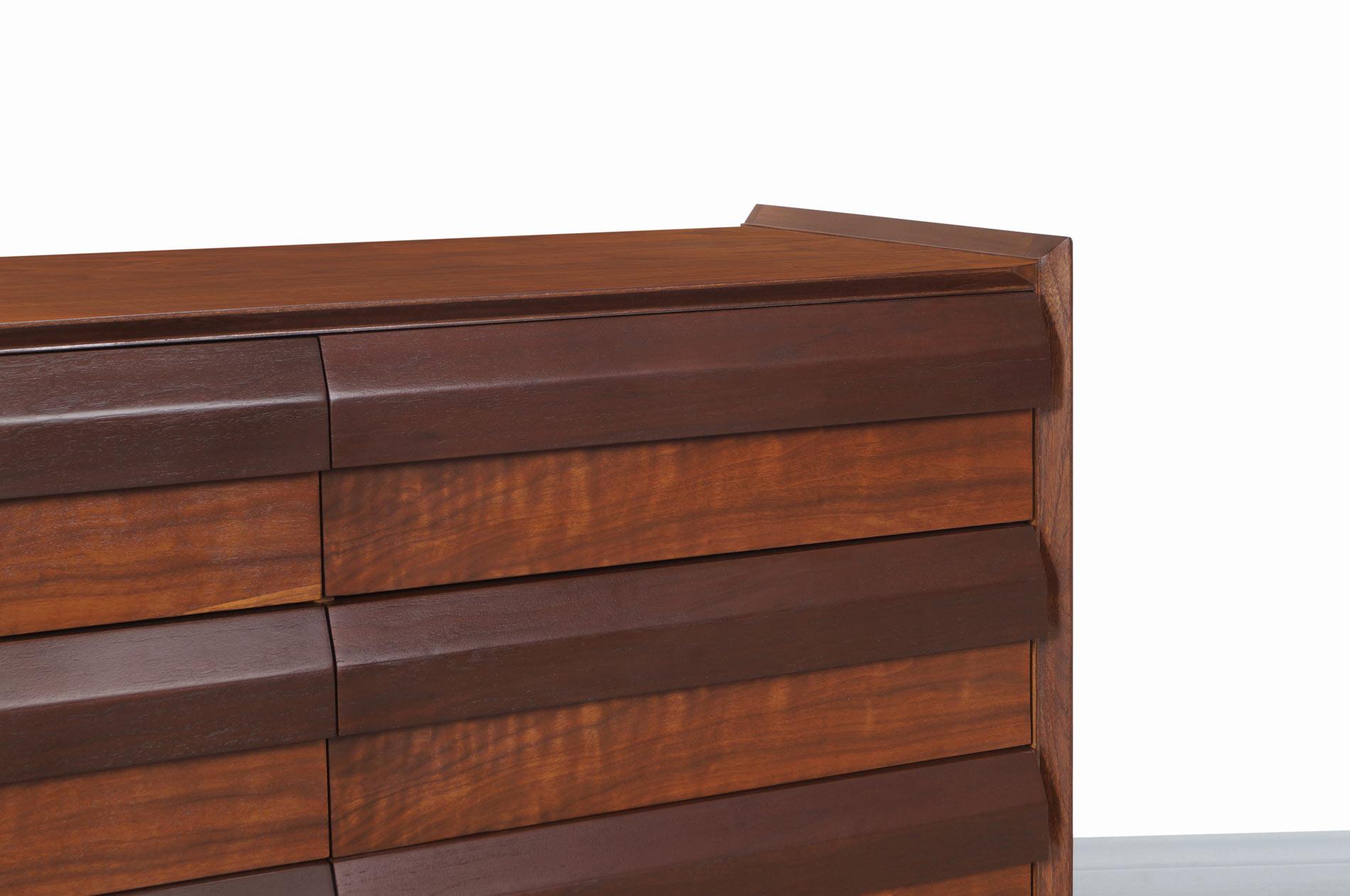Vintage Walnut Dresser by Lane