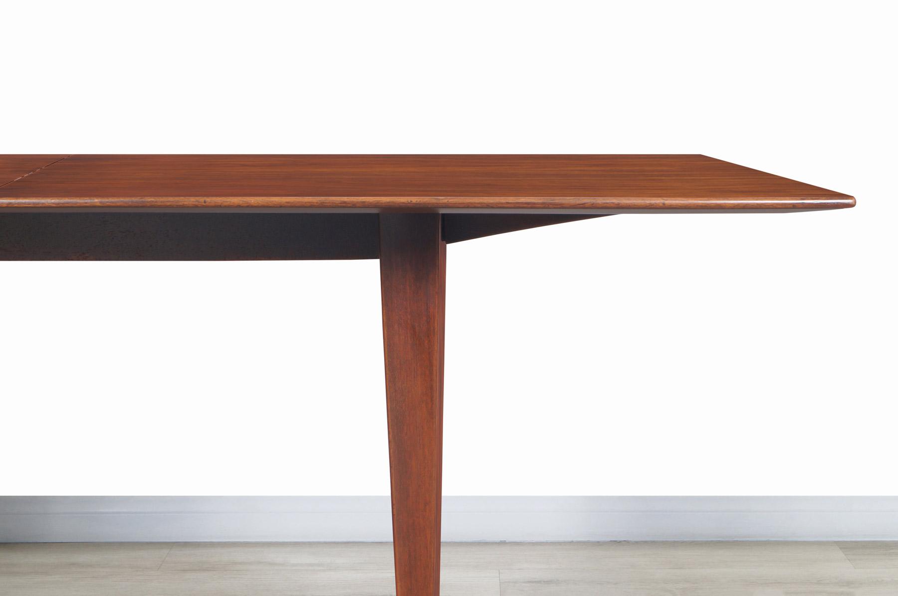 Edward Wormley Expandable Walnut Dining Table for Dunbar